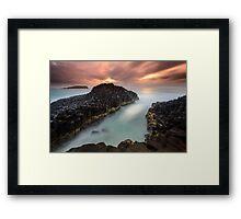 """Obsidian"" ∞ Fingal Head, NSW - Australia Framed Print"