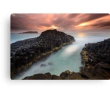 """Obsidian"" ∞ Fingal Head, NSW - Australia Canvas Print"