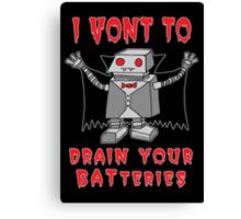 Robot Vampire Canvas Print
