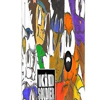 Kid Soldier & the Military Troop Cats Iphone case by TakeshiUSA