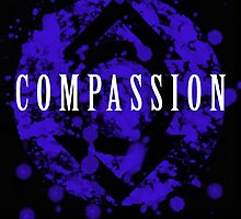 Lantern Corps Digital Splatter Series INDIGO COMPASSION by justin13art