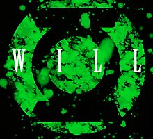 Lantern Corps Digital Splatter Series GREEN WILL by justin13art