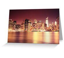 New York City - Night Lights Greeting Card