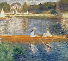 Boating on the Seine by Bridgeman Art Library