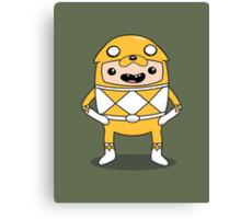 Morphin' Time - Adventure Time Power Rangers Jake Suit Canvas Print
