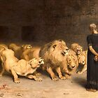 Daniel in the Lions' Den by Bridgeman Art Library