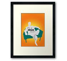 """BBC Sherlock """"It's a drugs bust!"""" - Greg Lestrade Framed Print"""