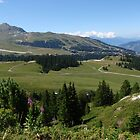 French Alps landscape above Courchevel by Grace Johnson