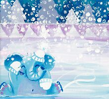 Slippery - Rondy the Elephant on ice by oksancia