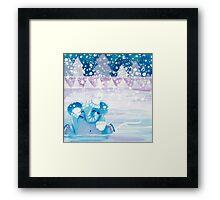 Slippery - Rondy the Elephant on ice Framed Print