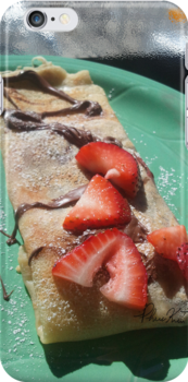 Strawberry & Raspberry Nutella Crepes by bizarreXpress