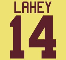 Isaac Lahey Jersey - maroon/red text Kids Clothes