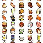 Food Pixels by tatiananori