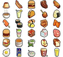 Food Pixels by tatiananori