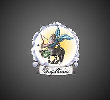 Sagittarius Zodiac Astrology iPhone, iPod Case Fade to Black, Super Lush by velvetlapin