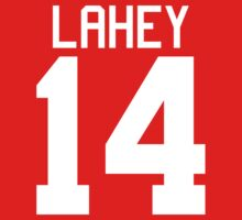 Isaac Lahey Jersey - white text Kids Clothes