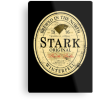 Stark Original Beer Label Metal Print
