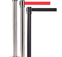 Black Retractable Stanchion Posts by epiccrowdcontro