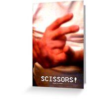 Scissors! Greeting Card
