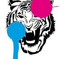 Angry Tiger Graffiti by GenerationShirt