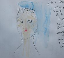 Study for Pizza Face 1 by John Douglas