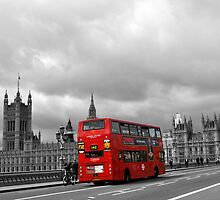 Red bus in London by giulia manfieri