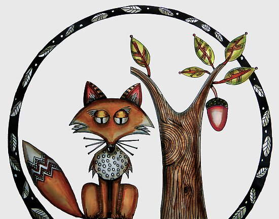 Wiley is a fox by Jenny Wood