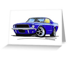 Ford Mustang (1967) Blue Greeting Card