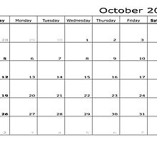 calendar month October 2014 start Sunday by feiermar