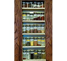 My Spice Cabinet Photographic Print