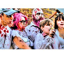 Zombies and Undead Family Photographic Print