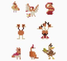Mini Pixel Kanto Flying Types - Set of 8 by pixelatedcowboy