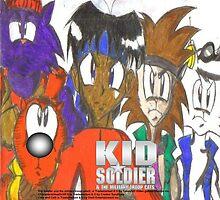 Kid Soldier & the Military Troop Cats Poster 2 (2008) by TakeshiUSA
