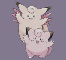 Clefairy and Clefable by Stephen Dwyer