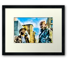 Laughing Buddies in New York City, USA Framed Print