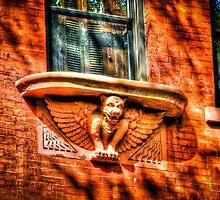 Red Gargoyle in New York City, USA by Noam  Kostucki