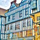 Colourful Old Buildings in Central London, UK by Noam  Kostucki