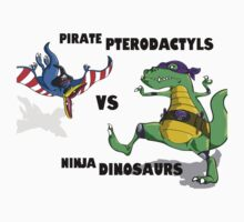 Pirate Pterodactyls vs Ninja Dinosaurs by Cory Gerard