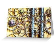 Cogs #4 - Watercolour Greeting Card