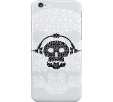 Skull with headphones iPhone Case/Skin