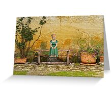 The Little Girl in The Garden Greeting Card
