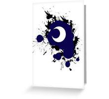 Lunar Splat (black paint, white background) Greeting Card