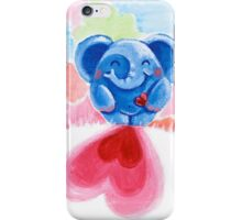 Me And My Heart - Rondy the Elephant In Love iPhone Case/Skin