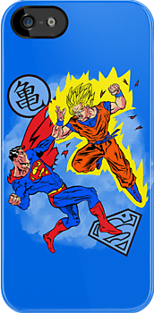 Goku vs Superman by TeeNinja