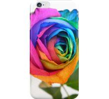 Rainbow Rose 01 iPhone Case/Skin