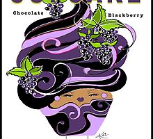 Cupcake : Chocolate Blackberry by katreece