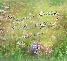 Birthday Greeting Card - Coral Bells and Irises by MotherNature2