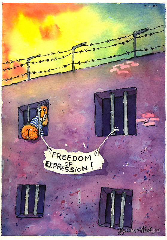 FREEDOM OF EXPRESSION  by Tomas Kozyra
