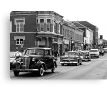 Antique Car Parade Canvas Print