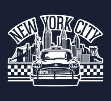 New York City Skyline and Taxi by MuralDecal
